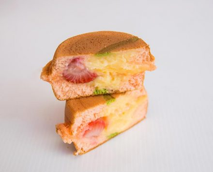 hotcakehouse Dish Strawberry Sweetie Custard Japanese Pancake 440x354 - Strawberry Sweetie Custard Japanese Pancake